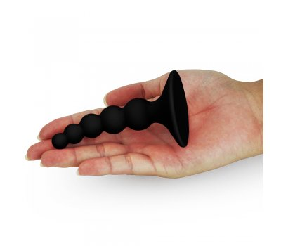 Черная анальная втулка Lure Me small Ø 1-2,5 см