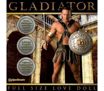 Кукла-мужчина с вибрирующим фаллосом и язычком Gladiator