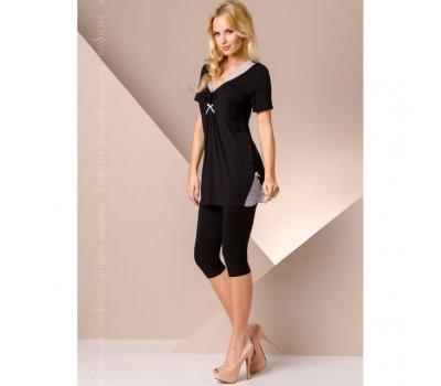 Черная ночная пижама L