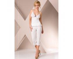 Пижама белого цвета M