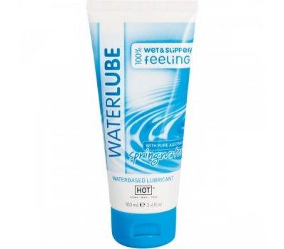 Гель-смазка Hot Glide waterlube springwater с родниковой водой 100 мл