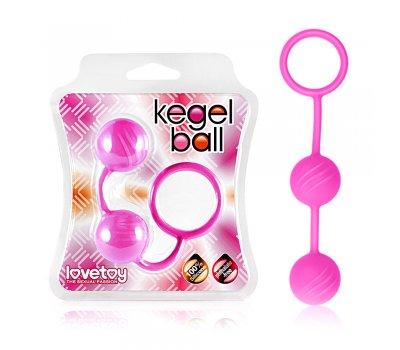 Вагинальные шарики Kegel ball розовые Ø 3 см