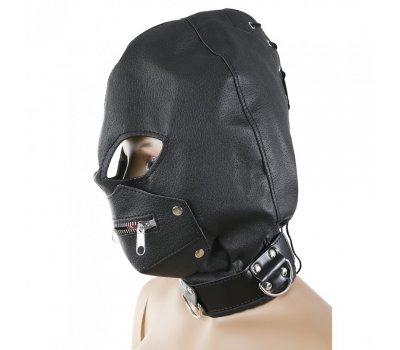 Бондажный шлем с замком