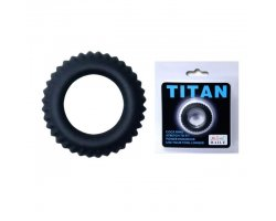 Эрекционное кольцо Titan с ребрышками