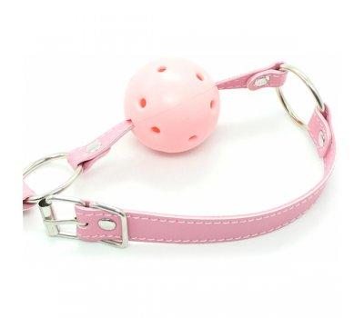 Розовый кляп-шар БДСМ, Ø 4 см