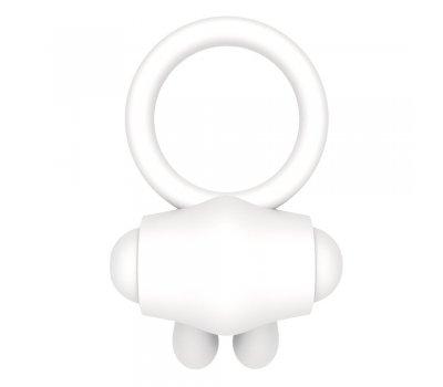 Белое виброкольцо Power Clit Cockring Rabbit