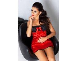Красная короткая сорочка Lena S/M