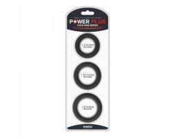 Набор из 3 эрекционных колец Power Plus Soft Silicone Snug Ring черные