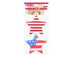 Набор дерзких пэстисов для груди в виде звезд Stars and Stripes Nipple Pasties