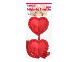 Обворожительные пэстисы в форме сердец с кисточками Reusable Red Heart Tassels Nipple Pasties