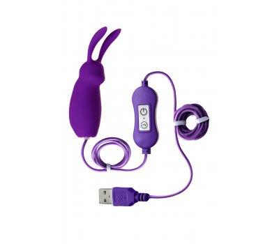 Фиолетовое виброяйцо A-Toys Bunny