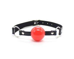Красный силиконовый кляп-шар, Ø 4,5 см