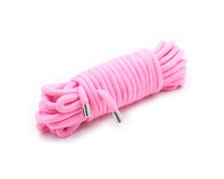 Бондажная хлопковая веревка розовая 5 метров
