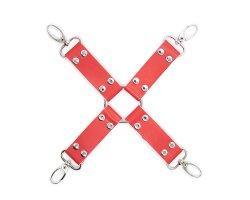 Бондажный БДСМ крест красный