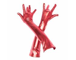 Красные перчатки выше локтя