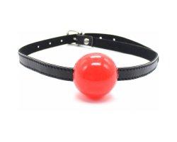 Красный кляп-шар из силикона, Ø 4,5 см