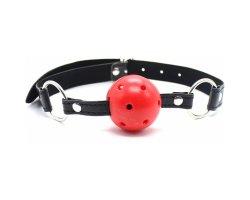 Красный БДСМ кляп-шар, Ø 4,5 см