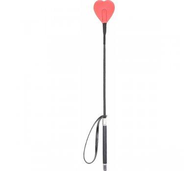 Стек с красным кожаным сердцем, 54 см
