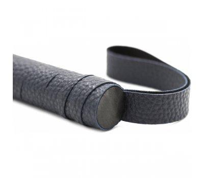 Стильная черная БДСМ плеть, 44 см