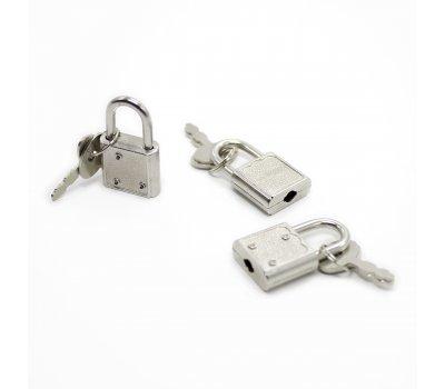 Маленький металлический замочек для БДСМ аксессуаров, серебристый