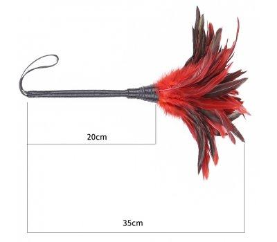 Тиклер с красно-черными перьями, 35 см