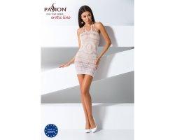 Прозрачное платье белого цвета BS063