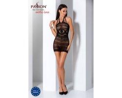 Прозрачное платье черного цвета BS063