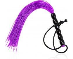 Фиолетовая плеть с рельефной твердой рукоятью