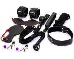 Набор БДСМ черного цвета из 8-ми предметов