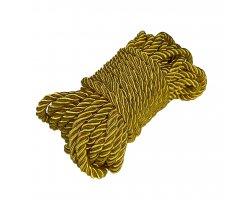 Блестящая золотая нейлоновая верёвка 5 метров
