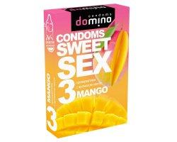 Оральные презервативы DOMINO SWEETSEX с ароматом манго, 3 шт