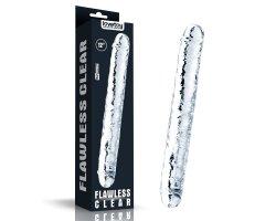 Двойной прозрачный фаллоимитатор Clear Double Dildo, 30 см, Ø 3,5 см