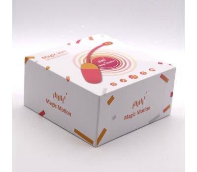 Виброяйцо Magic Motion «Magic Vini» с управлением через смартфон, оранжевое, 9,5 см, Ø 3,7 см