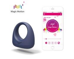 Эрекционное кольцо Magic Motion «Dante» с управлением через смартфон, синее