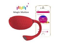 Смарт-вибратор и тренажер Кегеля Magic Motion «Fugu» с управлением через смартфон, красный, Ø 3,5 см