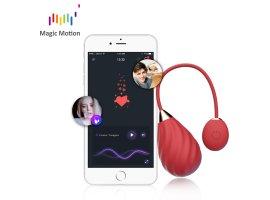 Виброяйцо Magic Motion «Sundae» с управлением через смартфон, красное, Ø 3 см