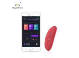 Вибростимулятор Magic Motion «Nyx» с управлением через смартфон, красный, 9 см