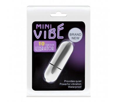 Вибропуля Mini Vibe белая с 10 функциями вибрации