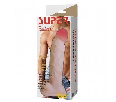 Фаллоимитатор с хребтом Super Braver, 34 см, Ø 6,4 см