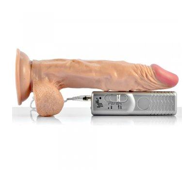 Реалистичный вибратор на присоске, длина 18 см, Ø 4 см